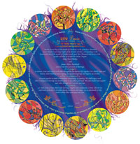 Nava Shoham - Milk and Honey Blue Ketubah